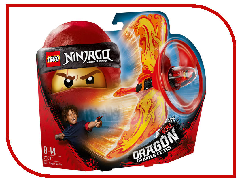Конструктор Lego Ninjago Кай-Мастер дракона 70647 конструктор lego ninjago 70633 кай мастер кружитцу