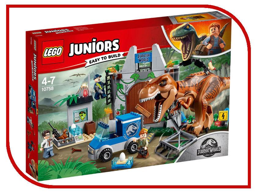 Конструктор Lego Juniors Jurassic World Побег Ти-Рекса 10758