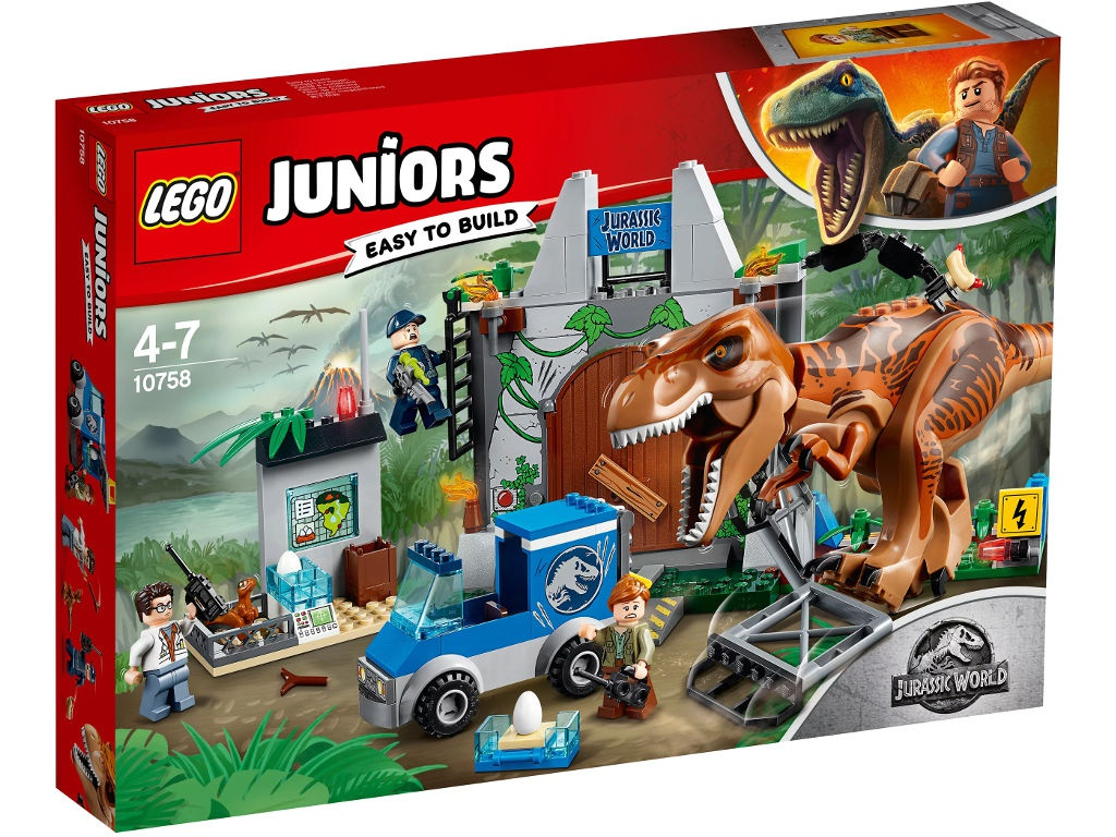 Конструктор Lego Juniors Jurassic World Побег Ти-Рекса 10758
