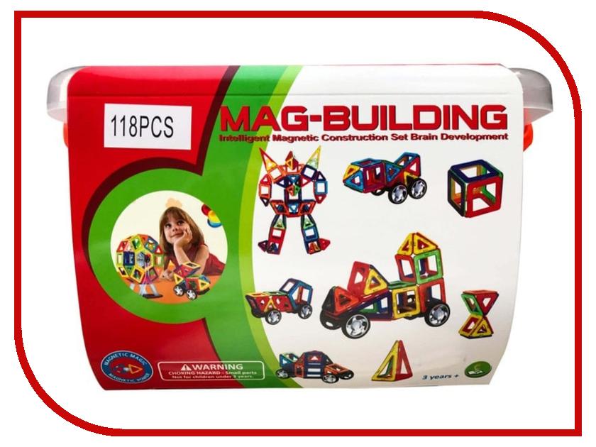 Конструктор Mag-Dulildnng MG018 118 магнитов mag lite m3a096e