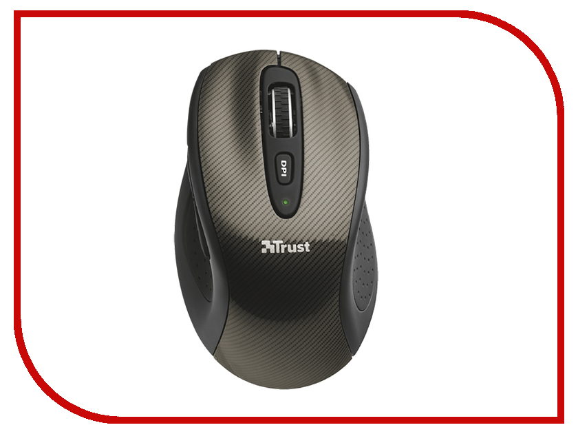 Мышь Trust Kerb Compact Wireless Laser Mouse Black USB