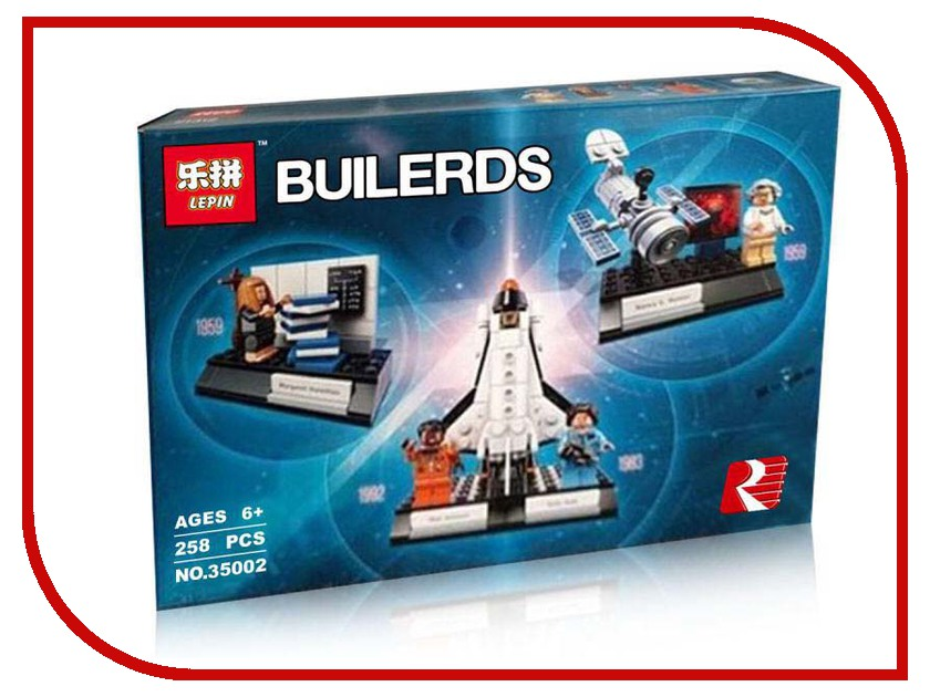 Конструктор Lepin Builerds Женщины-учёные НАСА 258 дет. 35002 конструктор lepin star plan истребитель набу 187 дет 05060