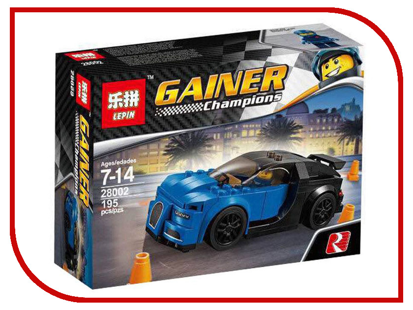 Конструктор Lepin Gainer Champion Bugatti Chiron 195 дет. 28002 конструктор lepin technician суперавтомобиль 1281 дет 20028