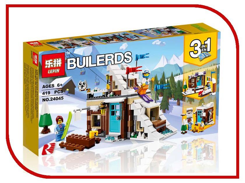 Конструктор Lepin Builerds Зимние каникулы 419 дет. 24045 конструктор lepin fairytale сказочный замок спящей красавицы 360 дет 25012