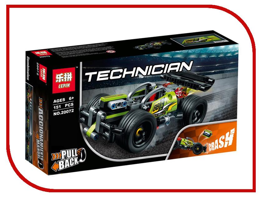 Конструктор Lepin Technician Зелёный гоночный автомобиль 155 дет. 20072 конструктор lepin fairytale сказочный замок спящей красавицы 360 дет 25012