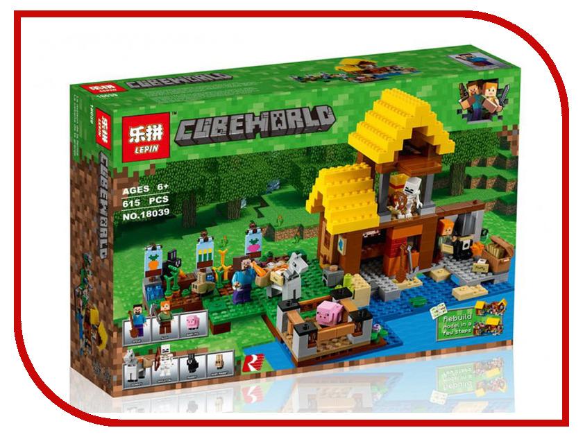 Конструктор Lepin Cubeworld Фермерский коттедж 615 дет. 18039 конструктор lepin fairytale сказочный замок спящей красавицы 360 дет 25012
