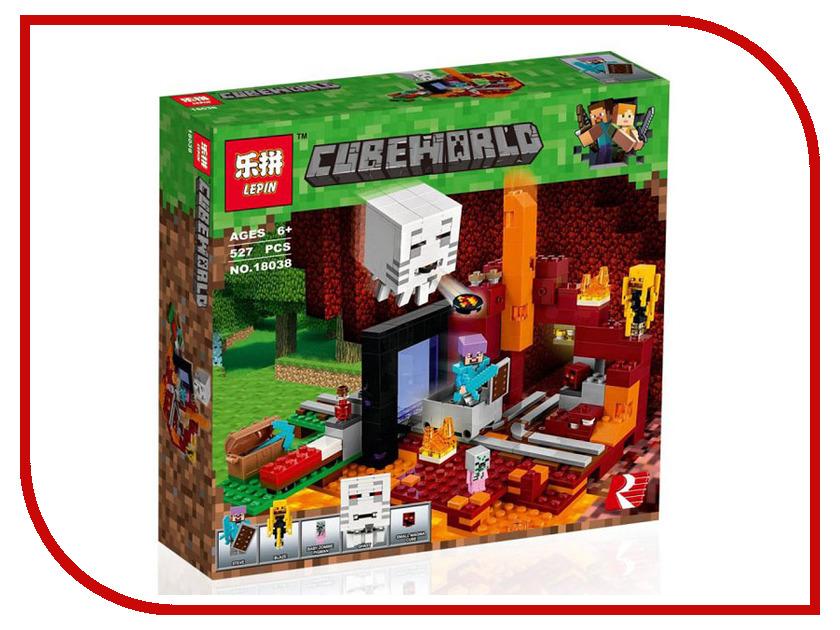 Конструктор Lepin Cubeworld Портал в Нижний мир 527 дет. 18038 конструктор lepin бой в подземелье 94 дет 18034