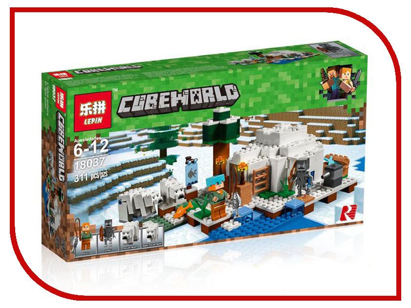 Конструктор Lepin Cubeworld Иглу 311 дет. 18037 конструктор lepin fairytale сказочный замок спящей красавицы 360 дет 25012