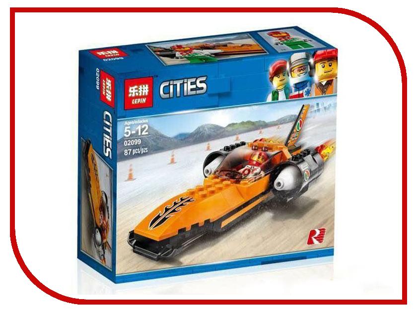 Конструктор Lepin Cities Гоночный автомобиль 87 дет. 02099 конструктор lepin girls club сцена андреа в парке 256 дет 01058