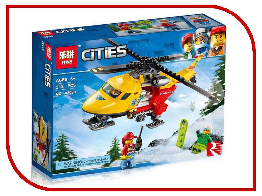 Конструктор Lepin Cities Вертолёт скорой помощи 212 дет. 02090 конструктор lepin fairytale сказочный замок спящей красавицы 360 дет 25012