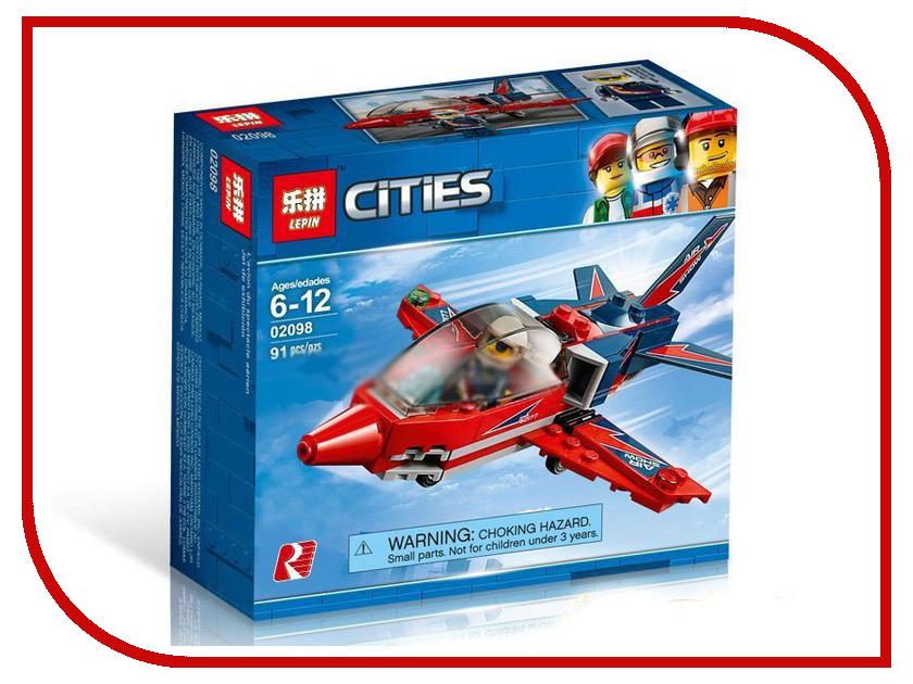 Конструктор Lepin Cities Реактивный самолёт 91 дет. 02098 конструктор lepin girls club сцена андреа в парке 256 дет 01058
