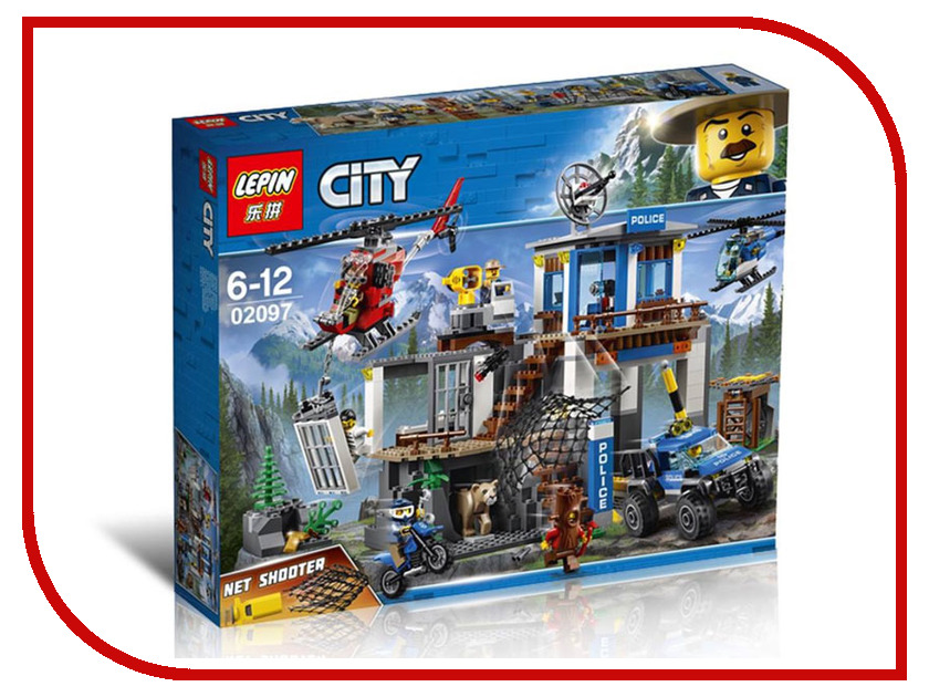 Конструктор Lepin City Полицейский участок в горах 742 дет. 02097 new lepin 02052 1029pcs city fire station building block fireman compatible 60110 brick toy boy gift educational diy