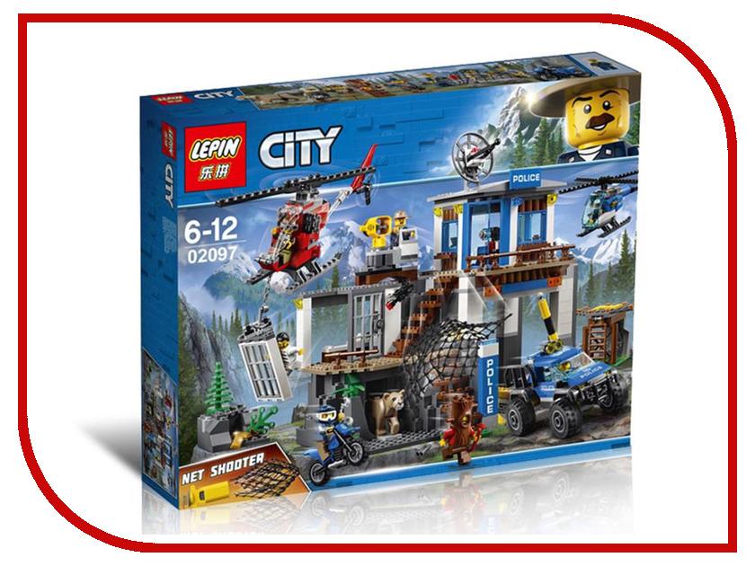 Конструктор Lepin City Полицейский участок в горах 742 дет. 02097 конструктор lepin girls club сцена андреа в парке 256 дет 01058