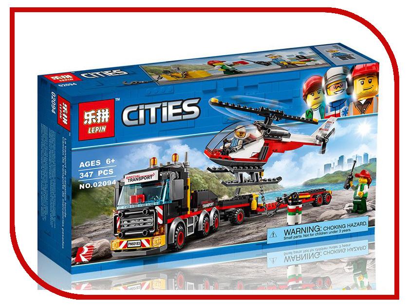 Конструктор Lepin Cities Перевозчик вертолёта 347 дет. 02094 конструктор lepin star plan истребитель набу 187 дет 05060