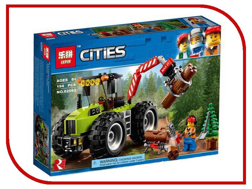 Конструктор Lepin Cities Лесной трактор 194 дет. 02092 конструктор lepin technician суперавтомобиль 1281 дет 20028