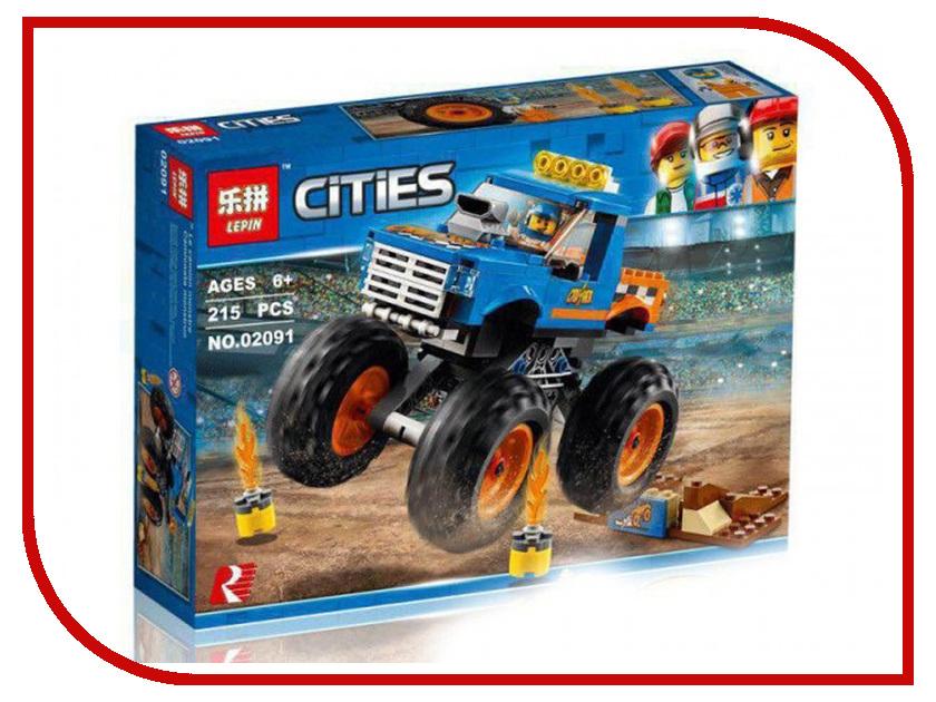 Конструктор Lepin Cities Монстр-трак 215 дет. 02091 конструктор lepin technician экскаватор 760 дет 20025