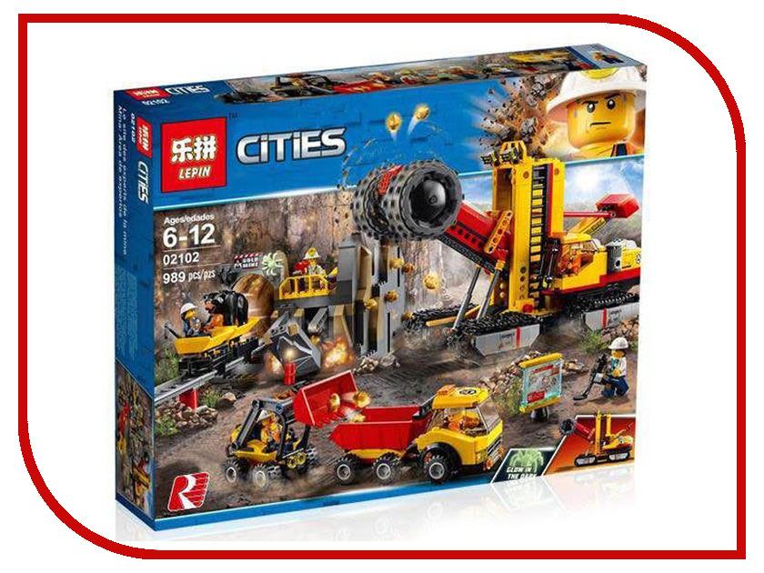 Конструктор Lepin Cities Шахта 989 дет. 02102 конструктор lepin fairytale сказочный замок спящей красавицы 360 дет 25012