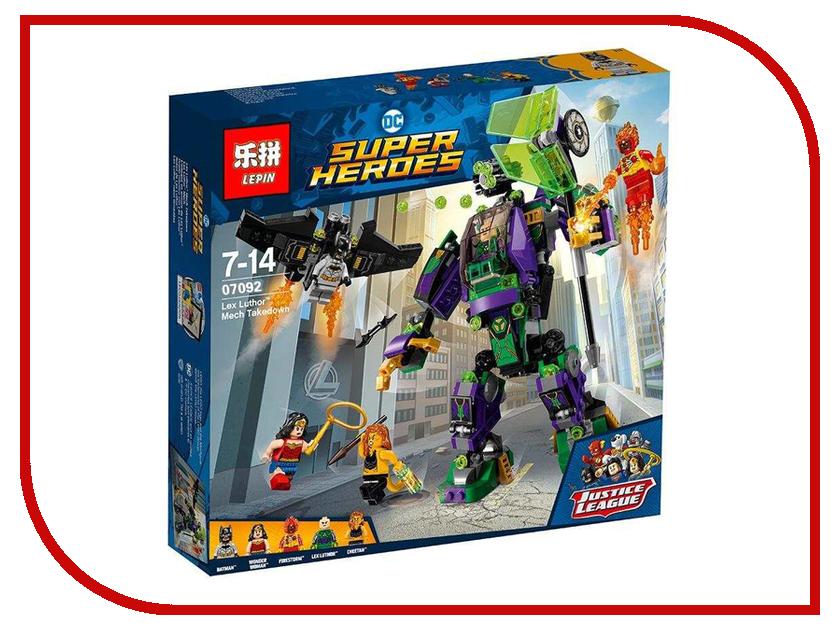 Конструктор Lepin Super Escort Сражение с роботом Лекса Лютора 455 дет. 07092 конструктор lepin super escort тёмный дворец эклипсо 1093 дет 29010