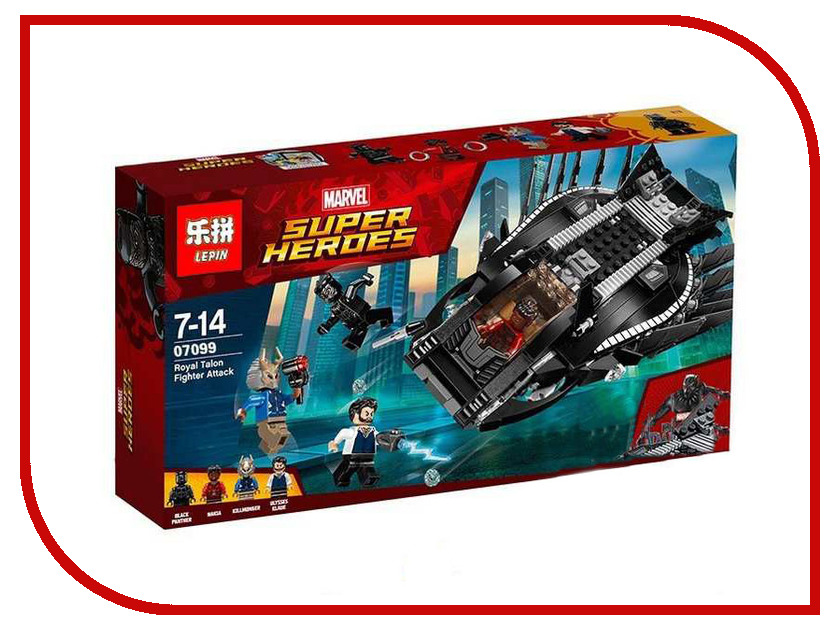 Конструктор Lepin Super Escort Нападение Королевского Когтя 401 дет. 07099 конструктор lepin super escort тёмный дворец эклипсо 1093 дет 29010