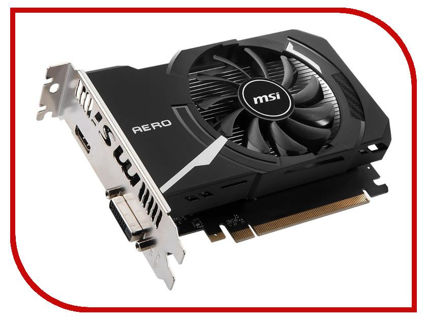 Видеокарта MSI GeForce GT 1030 1189Mhz PCI-E 3.0 2048Mb DDR4 2100Mhz 64 bit DVI HDMI HDCP GT 1030 AERO ITX 2GD4 OC теннисная ракетка aero storm aeropro gt racquete string 4 1 4 4 3 8 aero pro drive gt 2010