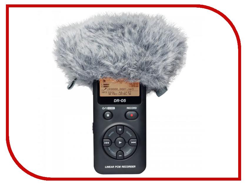 Диктофон Tascam DR-05V2 с ветрозащитой WS-11 ветрозащита для микрофона tascam ws 11