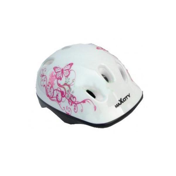 Шлем Maxcity Baby Caribo Girl S White шлем maxcity roller stike m light blue
