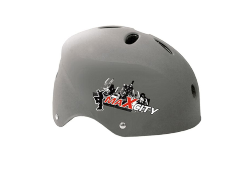 Шлем Maxcity Cool М Grey шлем maxcity roller stike m light blue