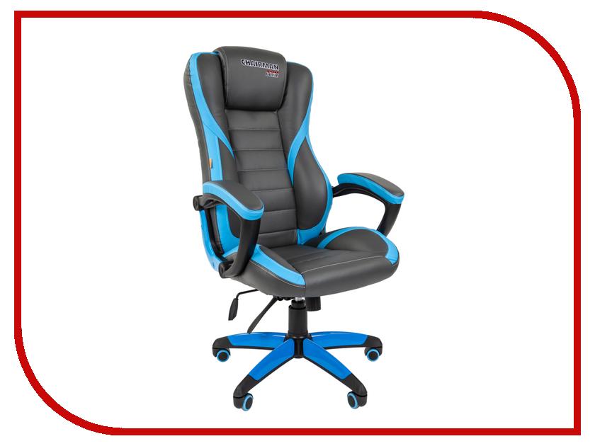 Компьютерное кресло Chairman Game 22 Grey-Light Blue 00-07019436 компьютерное кресло chairman 700 black 00 07014825
