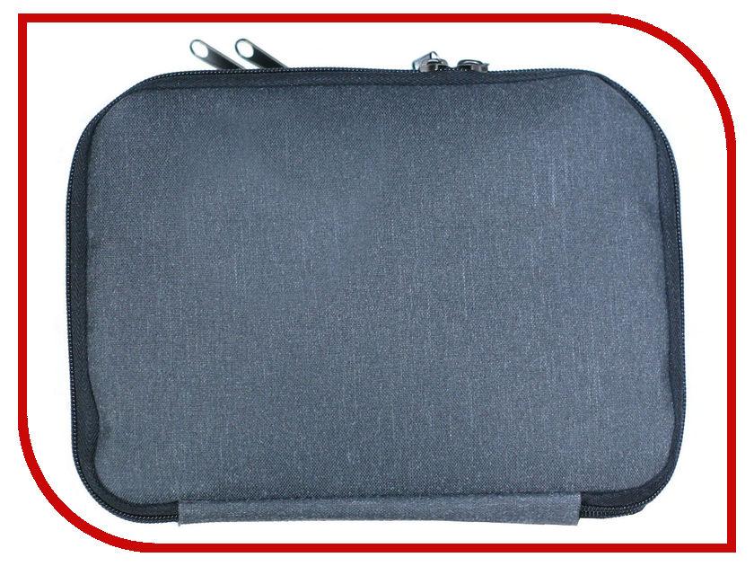 Органайзер кабельный Vivacase Double 20x25cm Grey VUS-SCDJW2025-gr аксессуар чехол 6 0 inch vivacase book grey vuc cbk03 gr