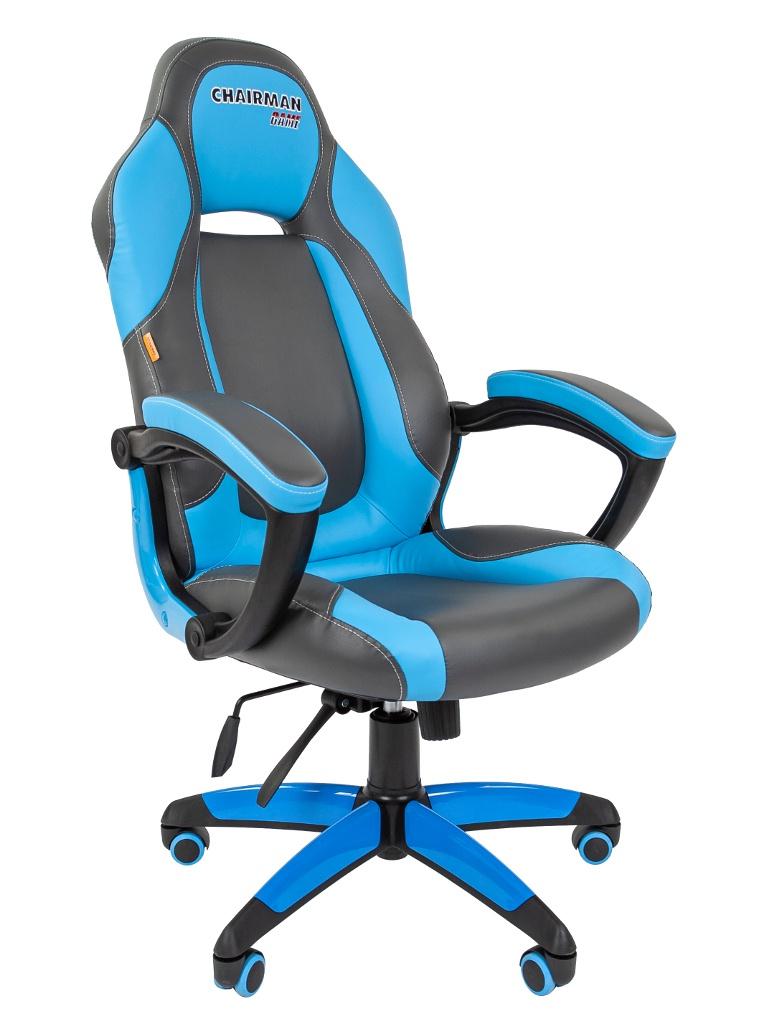 Компьютерное кресло Chairman Game 20 Grey-Blue 00-07019433