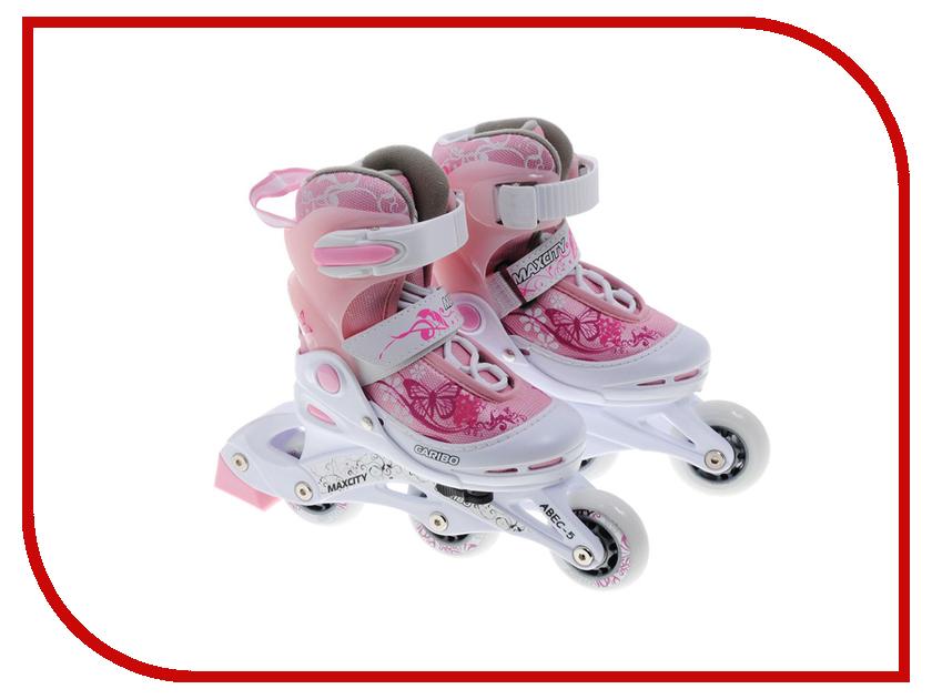 Коньки Maxcity Caribo Combo Girl 34-37 Pink детские ролики maxcity caribo combo
