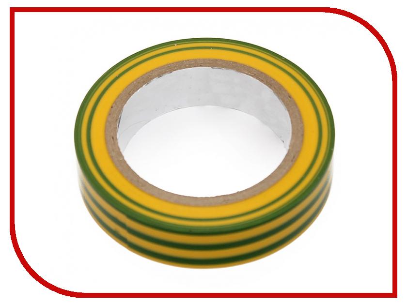 Изолента IEK 0.13x15mm Yellow-Green UIZ-13-10-10M-K52 304399