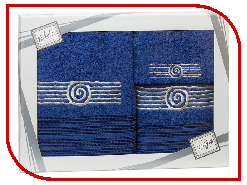 Купить Полотенце Valentini Sea 1 30x50/50x100/70x140cm 3шт 1199, Португалия