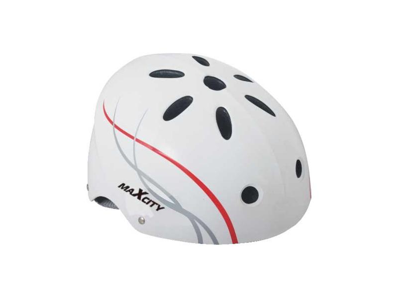 Шлем Maxcity Roller Liner L White шлем maxcity sport elite xl