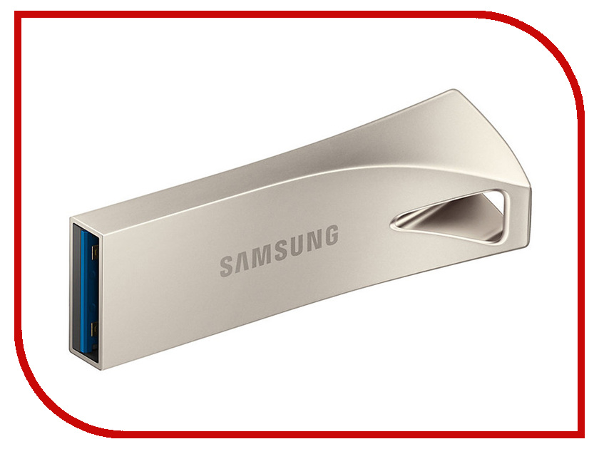 USB Flash Drive 128Gb - Samsung Bar Plus Silver MUF-128BE3/APC 1setx original new pickup roller feed exit drive for fujitsu scansnap s300 s300m s1300 s1300i