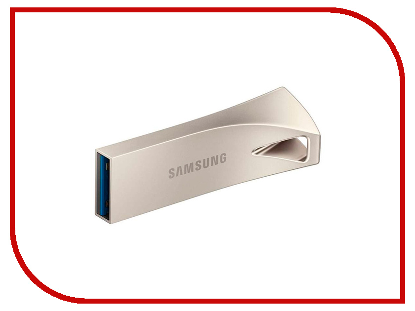 USB Flash Drive 256Gb - Samsung Bar Plus Silver MUF-256BE3/APC 1setx original new pickup roller feed exit drive for fujitsu scansnap s300 s300m s1300 s1300i