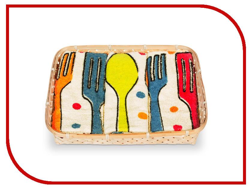 Полотенце Dolz Комплект кухонный 50x50 Cubiertos полотенце valentini комплект кухонный 50x50 limoni fortes