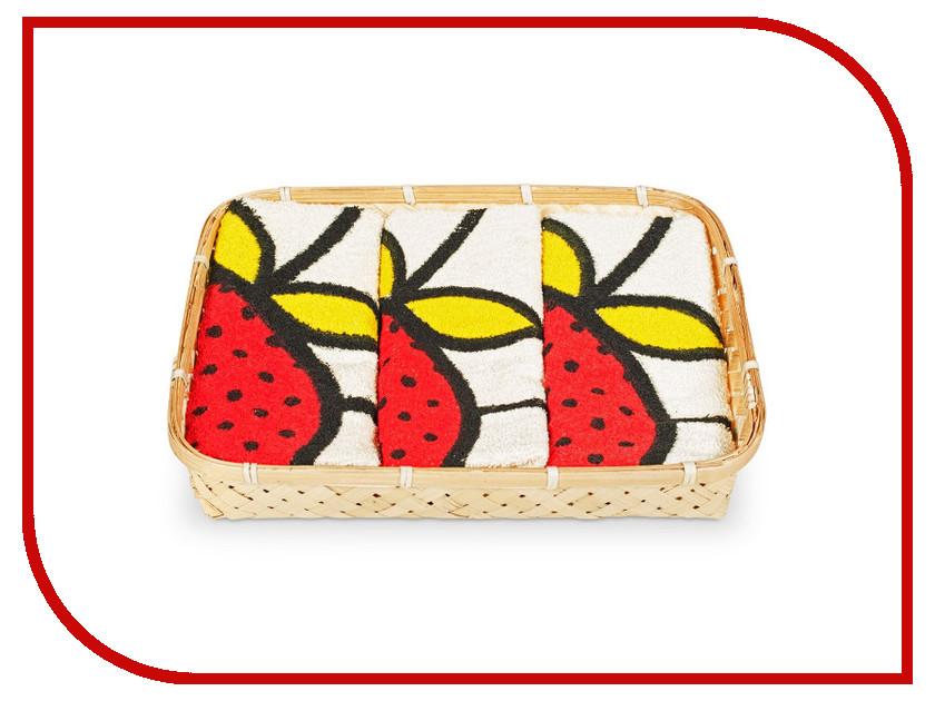 Полотенце Dolz Комплект кухонный 50x50 Fresas полотенце valentini комплект кухонный 50x50 limoni fortes