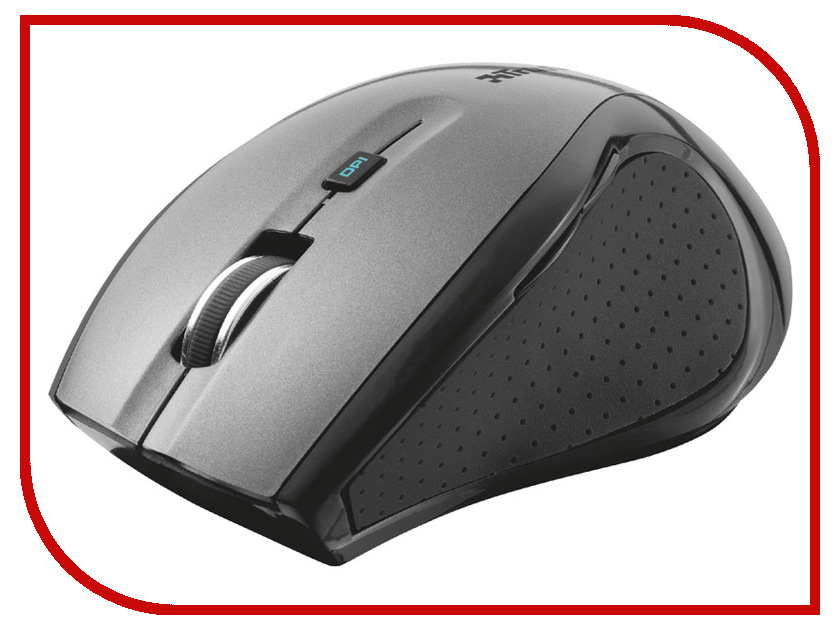 Мышь Trust MaxTrack Wireless Mini Mouse Silver-Black 17177 штыковая лопата truper pir p 17177