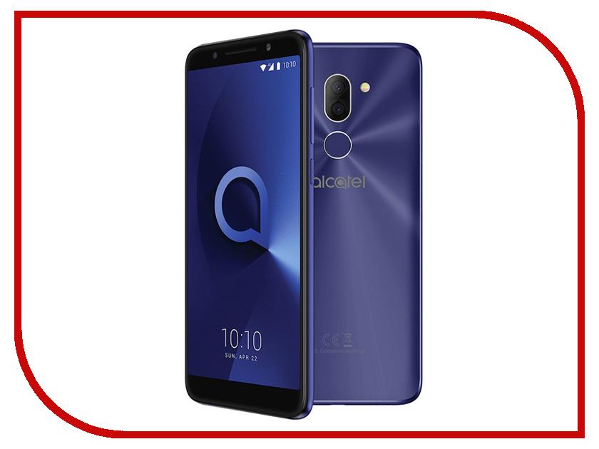 Сотовый телефон Alcatel 3X 5058I Metallic Blue смартфон alcatel 3x 5058i металлик черный 5 7 32 гб lte wi fi gps 3g 5058i 2aalru1