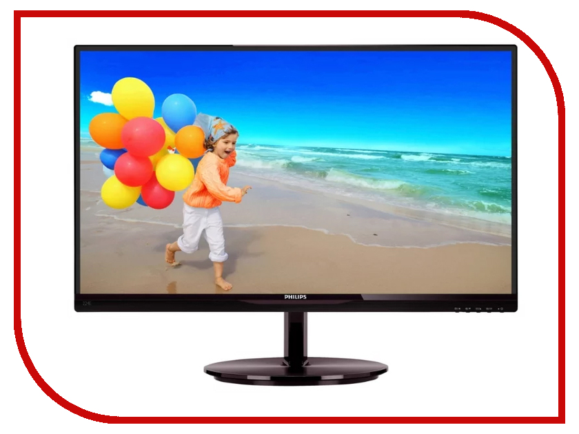 Монитор Philips 224E5QHSB/00 Black монитор philips 242b7qpteb 00 black