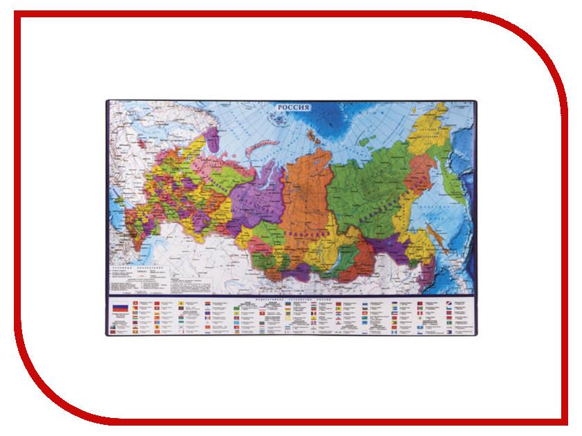 Коврик-подкладка для письма Brauberg Карта России 380x590mm 236776
