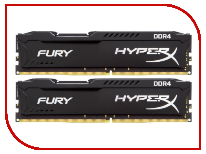 Модуль памяти Kingston HyperX Fury Black DDR4 DIMM 3200MHz PC-25600 CL18 - 16Gb KIT (2X8Gb) HX432C18FB2K2/16 50pcs epcs16n sop 16