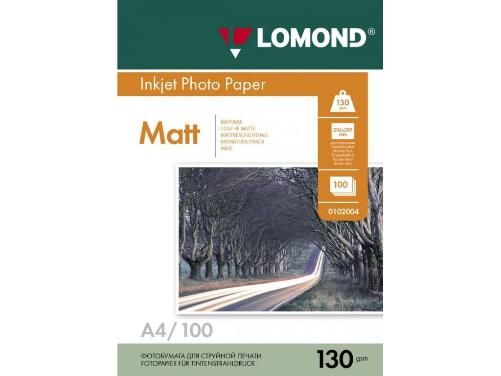 Фотобумага Lomond A4 130g/m2 матовая 100 листов 102004
