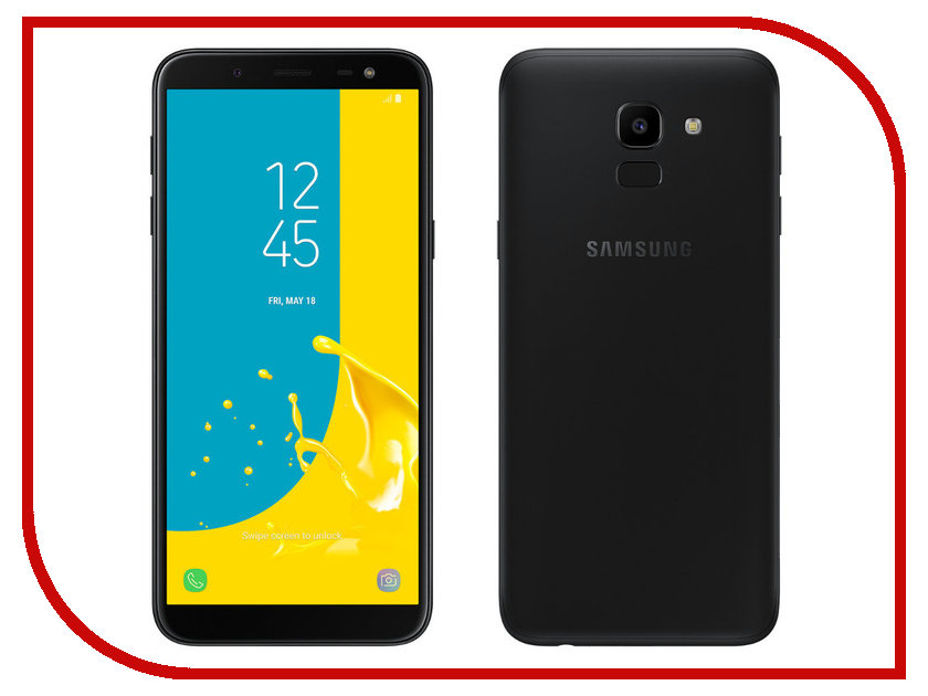 Фото - Сотовый телефон Samsung Galaxy J6 (2018) 32GB Black samsung galaxy tab e sm t561 black