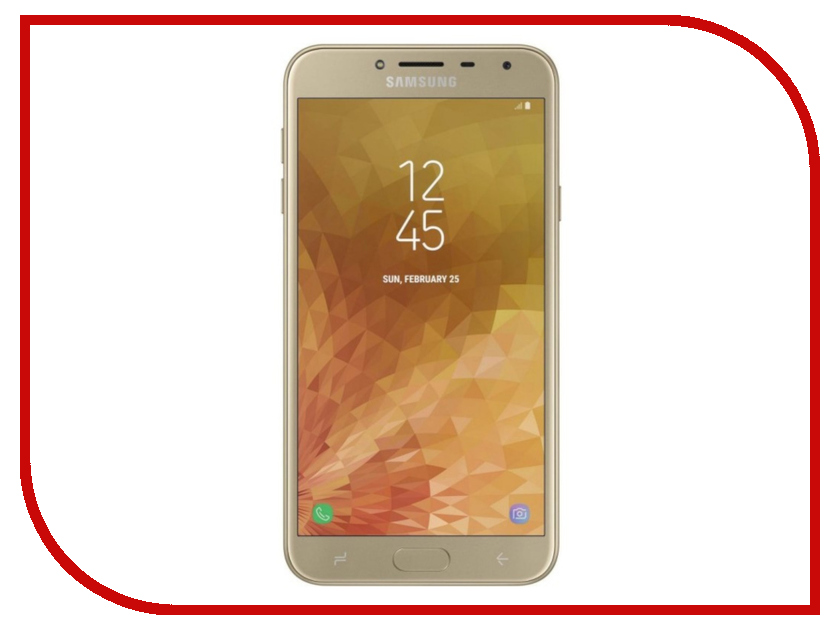 Сотовый телефон Samsung SM-J400F Galaxy J4 (2018) 32Gb Gold смартфон samsung galaxy s7 sm g930fd 32gb gold