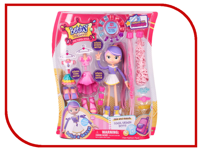 Кукла Moose Бетти Спагетти - Модные прически 59001 кукла moose happy places 56560