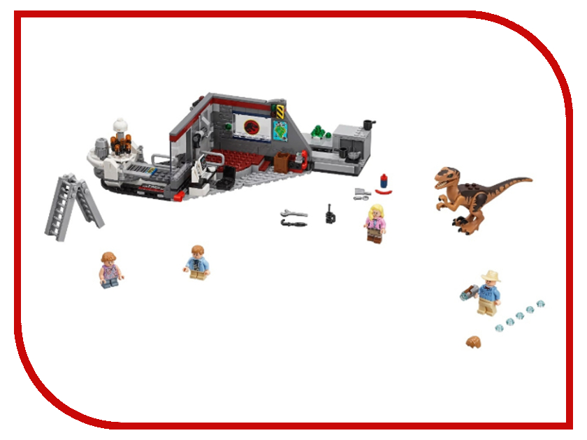 Конструктор Lego Jurassic World Охота на рапторов в Парке Юрского Периода 75932 конструктор lego friends киоск с хот догами в парке развлечений 41129