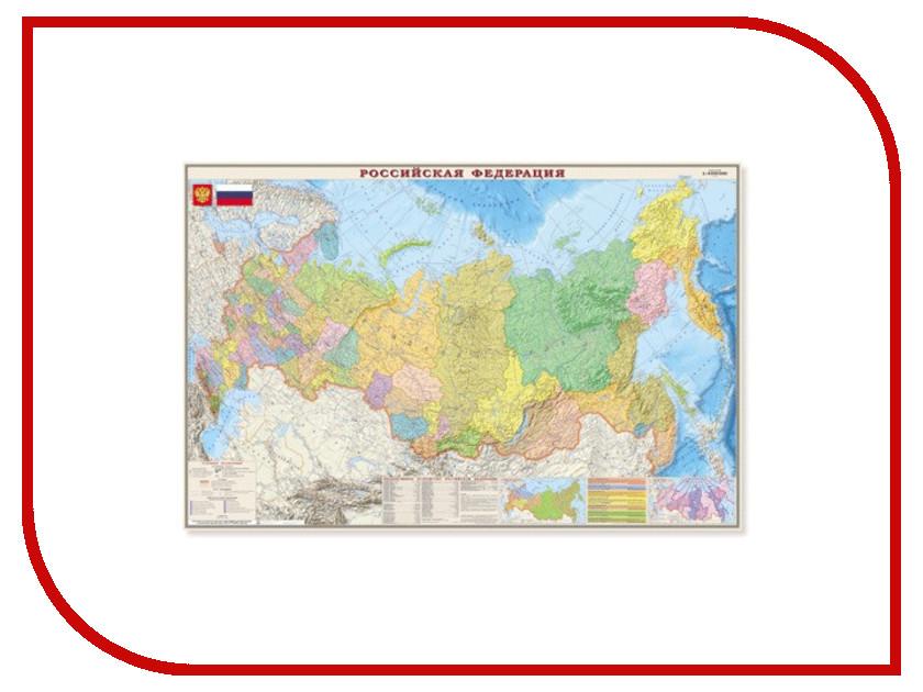 Карта настенная DMB Политико-административная Россия 312 123120 ярославль настенная карта