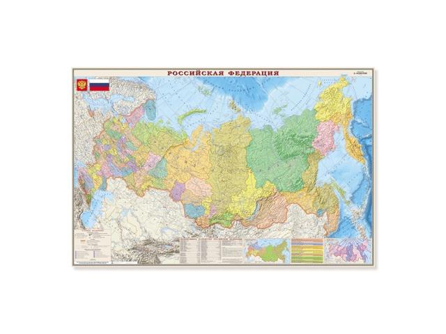 Карта настенная DMB Политико-административная Россия 312 123120 карта настенная россия природные зоны животные и растения